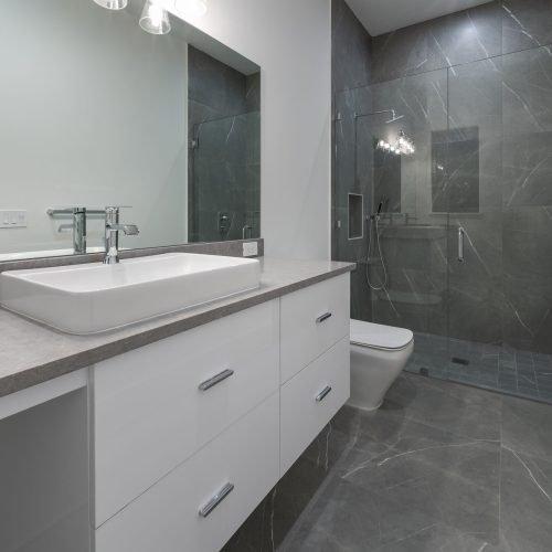 custom bath design in Coastal home