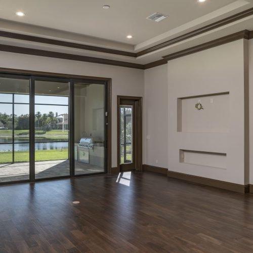 interior living room of custom Mediterranean style home
