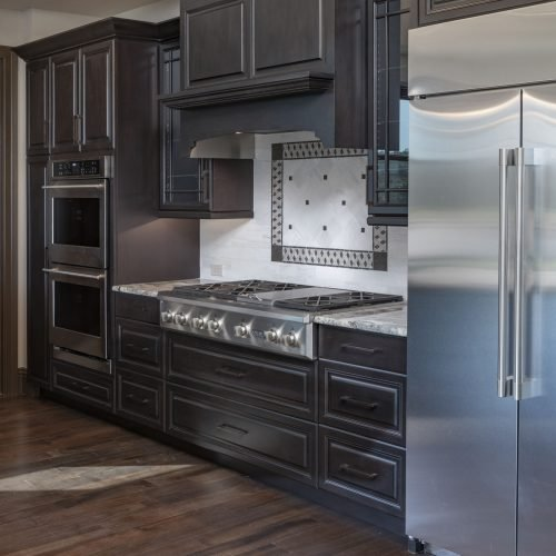 kitchen at new custom lakefront home by Beck Custom Homes