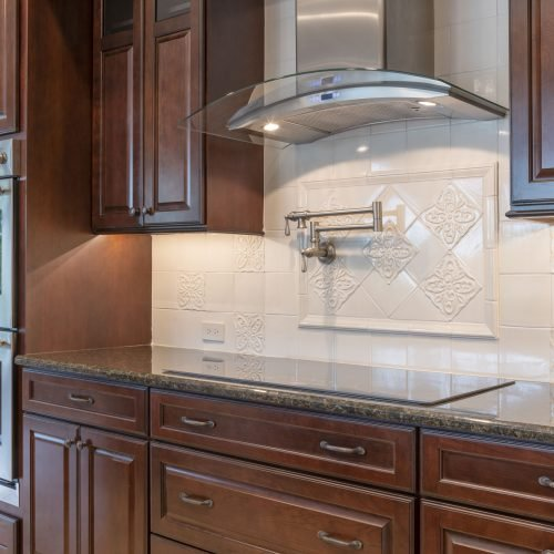 custom kitchen in new Beck traditional home