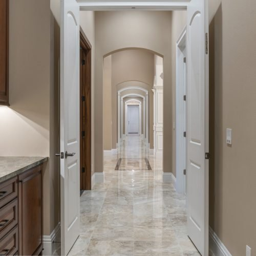 interior hall of traditional style custom home by Beck Custom Homes