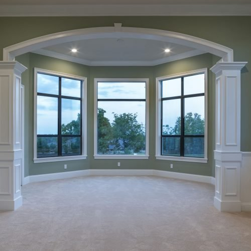 Beck Custom Homes designed and built interior of traditional style home