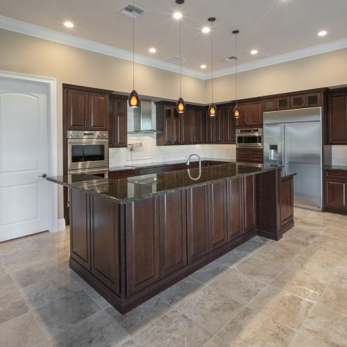 new kitchen at custom home in Orlando area