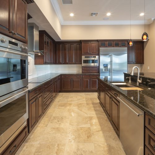 kitchen design in new traditional style home by Beck Custom Homes