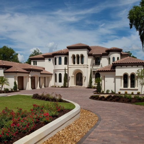 exterior of custom Mediterranean home by Beck Custom Homes
