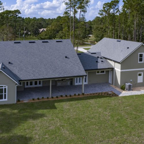 backside exterior of custom home in the Sanford area