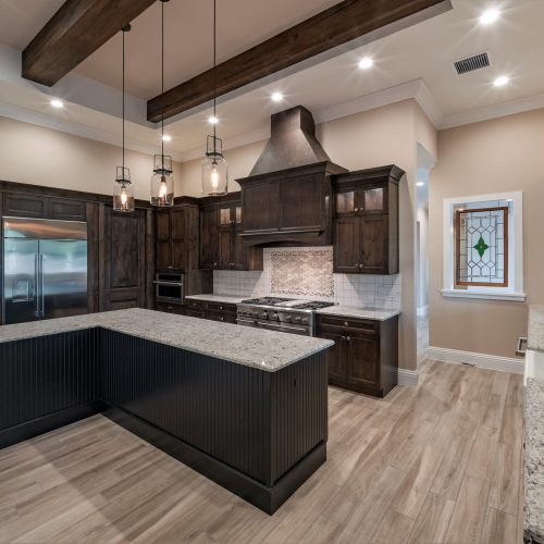 custom kitchen interior at Mid Atlantic Traditional style home