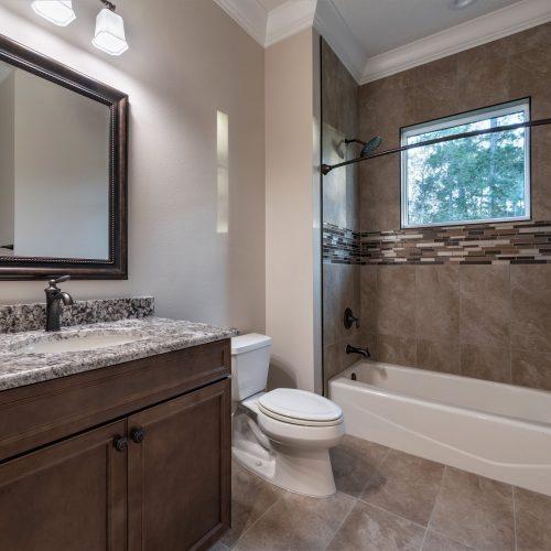 bathroom in Mid Atlantic Traditional custom home