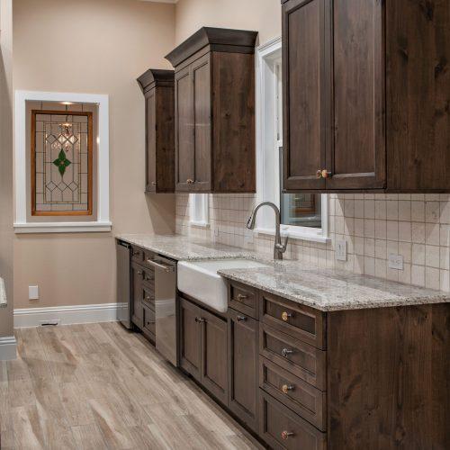 custom kitchen in Sanford home by Beck Custom Homes